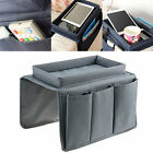 Sofa Chair Arm Rest Pocket Organiser Couch Remote Control Storage Tray Holder
