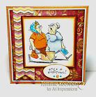 Shopping Grannies (U get photo # 2)L@@k @ examples Art Impressions Rubber Stamps