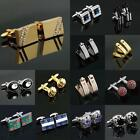 104 STYLES High Quality CUFFLINKS Mens Wedding PARTY BUSINESS Set Stainless 2018 $8.19 USD