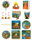 CAMP OUT Birthday Party NEW Tableware Balloons Decorations Supplies