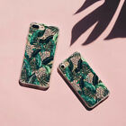 Fresh Green Leaves Premium Thin TPU Painting Case Skin For iPhone 6/6S/7 Pop