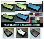 4 SIZES  DIVAN DOG BED WATERPROOF FAUX LEATHER & JUMBO CORD LARGE COLOUR CHOICE