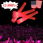 "12~300 PCS 19"" LED Red Light Foam Sticks Rally Rave Soft Glow Stick Baton Wands"
