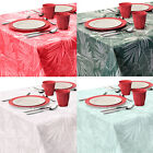 130x180cm Coloured Plastic PEVA Leaf Floral Tablecloth Wipe Wipe-able Kitchen