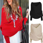 Women Long Sleeve Casual Thin Cardigans Strapless Sweater CHRISTMAS Knitwear