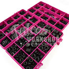 660 ASSORTED BLACK A2 STAINLESS FULL NUTS, FORM A WASHERS, SPRING WASHERS KIT