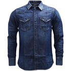 Replay Denim Western Style Popper Front Shirt - M4860-007