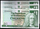 1996 2001 the royal bank of scotland plc £1 one pound banknotes UNC real money