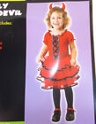 Frilly Lil' Devil Child Costume Dress 2-4 4-6 Years NWT