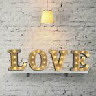 "Modern Metal LED 12"" Marquee Lights Alphabet Letters Vintage Style Light Up Sign"