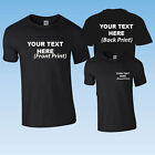 PRINTED PERSONALISED BLACK T-SHIRT + YOUR OWN TEXT