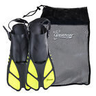 Seavenger Snorkel Swimming Training Fins Mesh Bag Set Combo Adult Kids Yellow