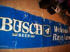 "Busch 6ft X 23"" blue vinyl banner sign Nascar #4 Kevin Harvick race beer bar"