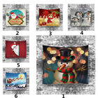 Christmas Xams Snowman Tapestry Hippie Room Bedspread Wall Hanging Throw Blanket