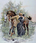 A Stolen Kiss ~ Horses, People ~ Counted Cross Stitch Pattern