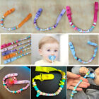 Gracious Newborn Baby Bling Beads Dummy Soother Pacifier Holder Clip Strap