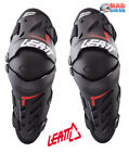 LEATT Dual Axis Knee & Shin Guards, MX Motocross Enduro Downhill, Black, Hinged