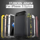 Aluminum Metal Shockproof Waterproof Glass Case Cover for iPhone X 8 7 6S Plus 5