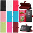 Stylish Flip Leather Card Holder Wallet Stand Soft TPU Skin Case Cover For Sony