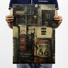 Retro Poster Kraft Paper Antique Bar Room Wall Decor Nostalgic Playbill 1 Piece