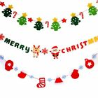 New Merry Christmas Tree Boot Banner Bunting Party Decoration Flag Garland 300cm