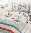 Pretty Hoot Owl Multi Colour  / Duvet Quilt Cover Bedding Set / Single / Double