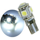 2Pcs Car T10 5-SMD 5050 Interior LED Light Bulbs Wedge W5W 194 168 White Lamp