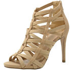 Delicious Womens High Heel Stiletto Sandals Peep Toe Caged High Heel Dress Shoes