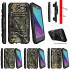 For Samsung Galaxy J3 Eclipse | J3 Mission (2017) Clip Armor Case Tree Camo