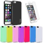 For iPhone 7 / 7 Plus Ultra Thin Rubber Jelly TPU Back Case Cover + Clear Film