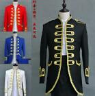 Mens Custume Wedding Military Double Breasted Blazers Coat Jacket Pants Suits hu