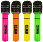 Inflatable Neon Toy Rock Pop Star Microphone Mic Mike Fancy Dress Costume Prop