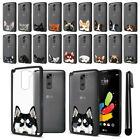 For LG Stylus 2 LS775 K520 Stylo 2 V VS835 Animal Clear Black Bumper Cover + Pen