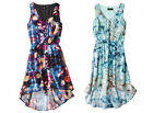 Mossimo Women's Sleeveless Hi-Lo High Low Woven Dress Floral Sleeveless NEW NWT