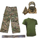 Kids Pack 2 HMTC MTP MultiCam Match -  Shirt Pants Shemagh BELT Soldier Dress Up