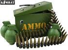Kids Army Ammo Gift Tin Fully Loaded Play Combat Set Bullet Belt Boys Soldier
