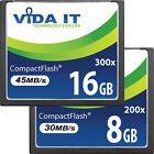 New 8GB 16GB Compact Flash CF Memory Card Speed 30MB/s 45MB/s For Digital Camera