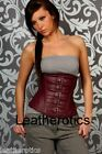 Purple Leather corset top Goth Punk Renn sca Dom 1819P - TeST