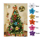 10Pcs Glitter Hollow Wedding Party Decor Christmas Flower Xmas Tree Ornaments