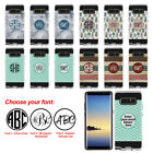 For Samsung Galaxy Note 8 Custom Personalized Monogram Letter Brushed Case Cover