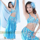 Brand New Sexy Belly Dance 2 Pcs Costume Bra & Skirt 7 Colours Available