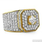 Gold Dipped Sterling Silver 12.5 CTW CZ Supreme Ring