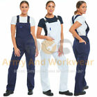 Ladies Womens Bib And Brace Painters Overalls Coveralls Dungarees Work Engineers