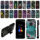 For ZTE Blade Z Max Z982/ Sequoia Hybrid Heavy Duty Kickstand Case Cover + Pen