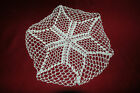"""Hand Crafted DOILY  -  11""""  White Fine Thread Hand Crocheted Doily"""