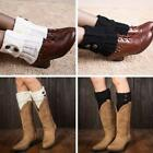 BOOT TOPPERS LEG WARMERS Wellies Button Knit Winter Socks slouch 8 Colours LA