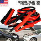 Heavy Duty 16.5FT 20FT Booster Jumping Cable Emergency Power Jumper 1000/1200AMP