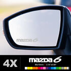 MAZDA 6 Wing Mirror Glass Silver Frosted Etched Car Vinyl Decal Stickers