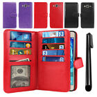 For Samsung Galaxy On5 G550 Flip Card Holder Wallet Cover Case Wrist Strap + Pen
