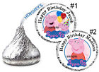 108 PEPPA PIG BIRTHDAY PARTY FAVORS HERSHEY KISS KISSES LABELS